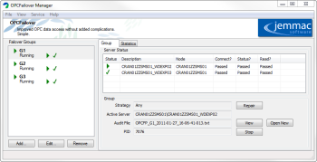 OPCFailover Release 2.1 User Interface